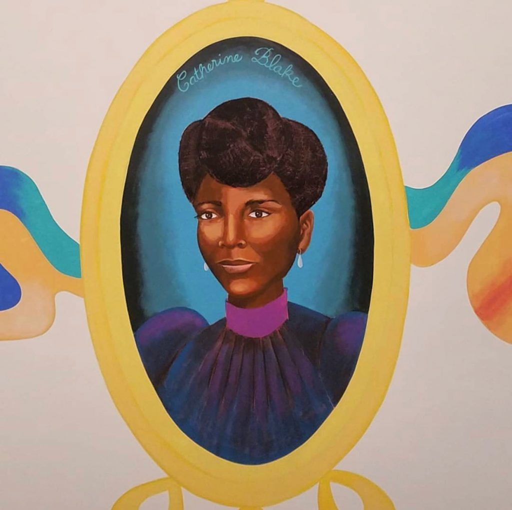 Cathering Blake Painting Portrait